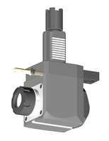 VDI 40, Angular Tool Holder, Haas Coupling, With Internal Cooling, Inverted Rotation Direction - 69/104.85, ER32