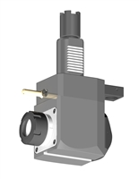 VDI 40, Angular Tool Holder, Haas Coupling, With Internal Cooling, Inverted Rotation Direction - 80/104.85, ER32