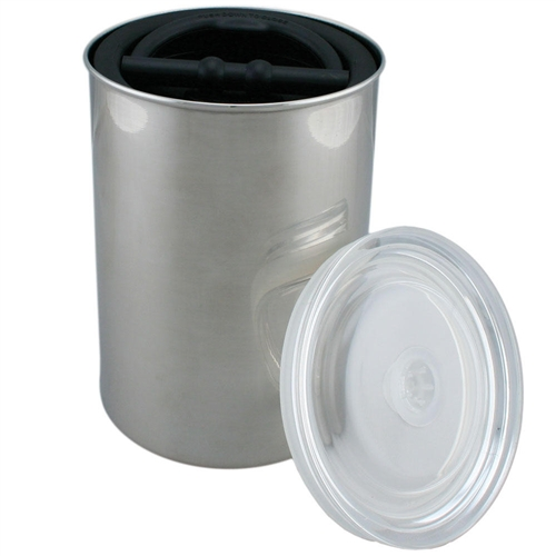 64 oz Airscape airtight food storage canister in stainless steel