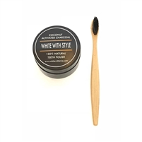 Coconut Activated Charcoal with Bamboo Toothbrush