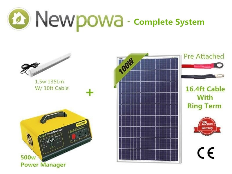 500w Solar Panel Power System Inverter Controller Iphone