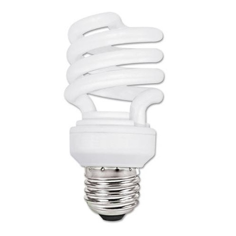 23 Watt 827 Color Temperature Medium Base Mini Spiral CFL