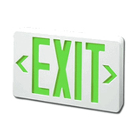 LED Green EXIT Sign with Battery Backup