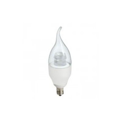 NaturaLED LED6CAF/35L/E12/27K 6 Watt Dimmable LED Candelabra Bulb Lamp 120V E12 Base 5806 2700K
