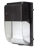 20 Watt Mini LED Wall Pack 5000K Color Temperature Includes 120 Volt Photocell