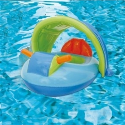 Jet Ski Baby Float with Canopy (Blue)