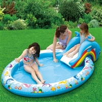 Slide and Splash Dolphin Play Pool