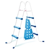 "42"" Blue and White Ladder with Barrier for Ring Pools"
