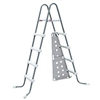 "42"" Gray and White Ladder with barrier for Frame Pools"