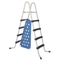 "52"" Blue and White Ladder with Barrier for Ring Pools"