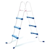 "42"" Blue and White Ladder without Barrier for Ring or Frame Pools"