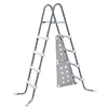 "48"" Gray and White Ladder with Barrier for Frame Pools"