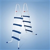 "48"" Blue and White Ladder without Barrier for Ring or Frame Pools"