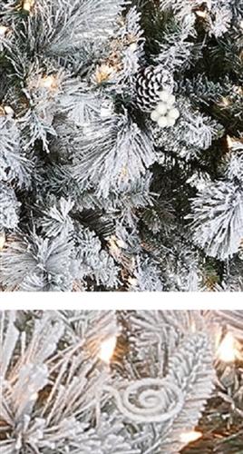 9 Foot Flocked Christmas Tree