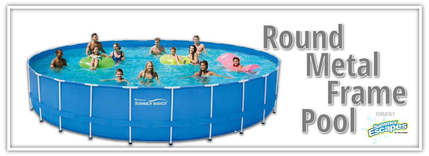 Summer Escapes Round Metal frame Pool | Polygroupstore