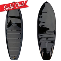 MCCALLUM SURFBOARDS PDX 5'8 STOCK BLACK TINT GLOSS POLISH BLUE PINLINE