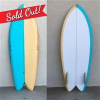 RYAN BURCH SURFBOARDS 4'11 SQUIT FISH MODEL