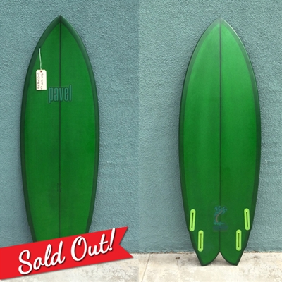 SURFBOARDS BY RICH PAVEL 5'3 QUAD GREEN TINT