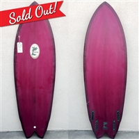 SURFBOARDS BY RICH PAVEL 5'8 QUAD PURPLE TINT