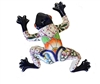 "Small wall frog 11.5""H x 10.5""W"