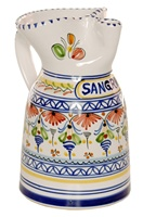 Cenefa Style Sangria Pitcher - 8.5 inch Tall