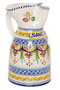 Cenefa Style Sangria Pitcher - 10 inch Tall
