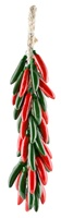 """RED & GREEN SERRANO PEPPER LARGE RISTRA 17""""L"""