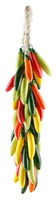 """COLORED SERRANO PEPPER LARGE RISTRA 17""""L"""