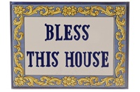 """""""Bless This House"""" Tile - 5"""" x 8"""""""