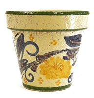 "Multi Colored Standard Rustico Planter 10.5"" D"