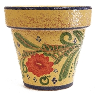 "Multi Colored Standard Rustico Planter 8.75"" D"