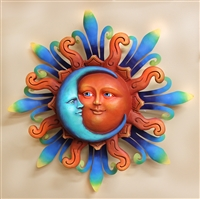 Airbrushed Sun face MED 11.5""