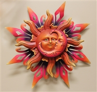Airbrushed Sun face MED 13.5""