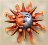 Airbrushed Sun face SM 10""