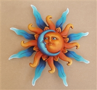 Airbrushed Sun face SM 9.5""