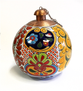 Talavera Acapulco Style Table Top Torch