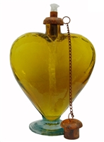 YELLOW GLASS HEART TORCH