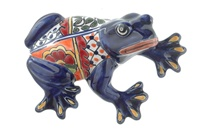 """Large Wall Frog - 7.75""""H x 5.50""""W (Blue Body)"""