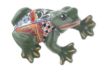 """Large Wall Frog - 7.75""""H x 5.50""""W (Green Body)"""