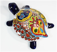 """Large Wall Turtle - 7""""W x 10""""L (Blue Body)"""