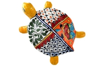 """Large Wall Turtle - 7""""W x 10""""L (Yellow Body)"""