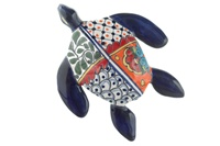 """Medium Wall Turtle - 8""""W x 10.25""""L (Blue Body)"""