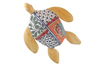 """Medium Wall Turtle - 8""""W x 10.25""""L (Yellow Body)"""
