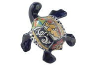 """Small Wall Turtle - 6.25""""W x 6.25""""L (Blue Body)"""