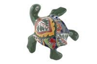 """Small Wall Turtle - 6.25""""W x 6.25""""L (Green Body)"""