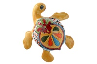 """Small Wall Turtle - 6.25""""W x 6.25""""L (Yellow Body)"""