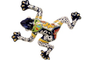 """Small Wall Frog - 10.50""""W X 10.50""""L (Blue body)"""