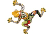 """Small Wall Frog - 10.50""""W X 10.50""""L (Yellow body)"""