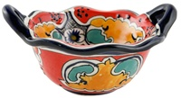 """Bowl w/ two handles 6.25"""" DIA"""