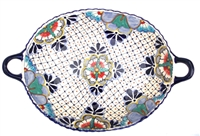 """Large deep tray w/ handles 18.5"""" x 12.75"""""""